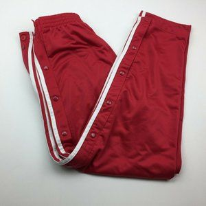 Adidas 90's Red Side Snap Track Workout Pants L